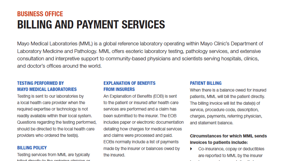 Billing and Payment Services Overview | Insights
