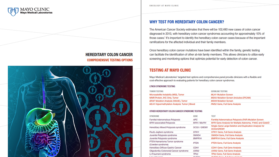 Hereditary Colon Cancer Brochure Insights